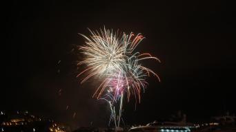 Spektakuläres Feuerwerk auf Ibiza